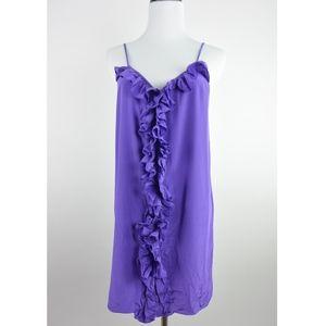 Tibi Silk Cami Dress Purple Size 2 #1540